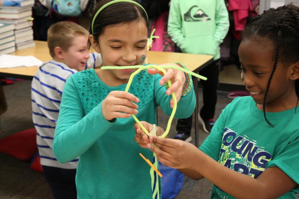 Walt Disney Students work on STEM project